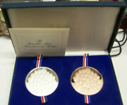 1976 Limited Edition Franklin Mint Bicentennial Matched Proof Set -2 Medals