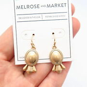 Old Stock Melrose And Market Drop Hoop Earrings In Gold Matte Tone