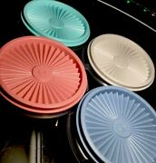 8 Pc New Vintage Tupperware Bowls 1323 W/classic Pleated Seals Pastel Colors