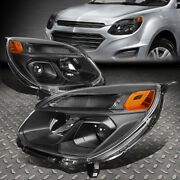 For 16-17 Chevy Equinox Black/amber Corner Projector Headlight W/signal Lamps