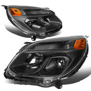 For 2016-2017 Chevy Equinox Black Amber Side W/turn Signal Projector Headlights