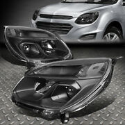 For 16-17 Chevy Equinox Black/clear Corner Projector Headlight W/signal Lamps