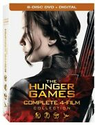 The Hunger Games Complete 4 Film Collection [dvd + Digital] New Dvd Ships Fast