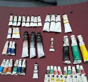 Mostly New Tubes Of Artist Oil Paint- Gamblin And Winsor And Newton Bob Ross Etc