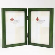 Lawrence Frames Collection Hinged Double Wood Picture Frame Gallery 5 By 7-inch