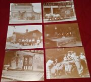 6 Vintage 11 X 14 Photo Print Collectible Gas And Oil Advertising Signs Used