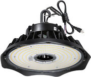 200w Ufo Led High Bay Light Fixture, 26000lm 1-10v Dimmable 5000k 5' Cable With
