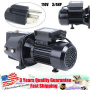 110v 3/4hp Self-priming Shallow Well Jet Pump High Speed Pump W/ Pressure Switch