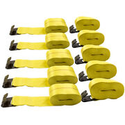 10x 4 X 30' Winch Straps With Flat Hook Flatbed Truck Trailer Tie Down Strap