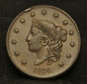 1836 Coronet Head Large Cent Xf Cud At Star 6