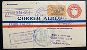 1929 Colon Canal Zone Panama First Fight Airmail Cover To Barranquilla Colombia