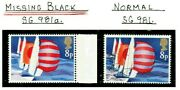 Gb 1975 Sailing 8p Stamp With Missing Black Error Unmounted Mint Refa729