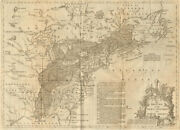 A Map Of The British And French Settlements In North America. Lodge 1755