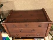 Vintage Wooden Roy Rogers Western Toy Chest