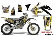 Suzuki Motorcycle Parts Dr-z400sm Amr Graphic Decals Full Kit Yellow Patterns