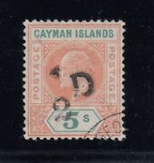Cayman Islands Sg 18 Var Used Slotted Frame Variety Only 15 Possible