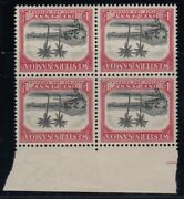 Western Samoa Sg 181w Mnh Block Of Four Watermark Inverted Variety