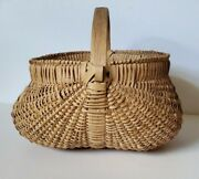 Large Handcrafted White Oak Gathering Basket From Cannon County Tn.andnbsp