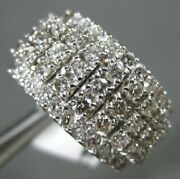 Estate Large 1.50ct Round Diamond 14kt White Gold 3d Classic 5 Row Cocktail Ring