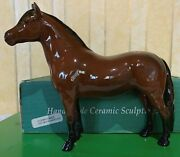 Beswick Horse Pony Dartmoor Warlord Brown Gloss Perfect Boxed + Certificate