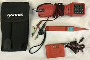 Lot 4 Harris Ts-19 19800-009 Phone Tester And Pro2000 Probe Tester And Tonerandcase