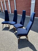 4 Vintage Adrian Pearsall High Back Dining Chairs Mid Century Craft Associates