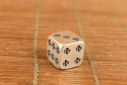 Used Standard Silver Dice Statue Collectable Collection Unique Gift