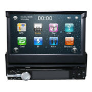 7 Single 1 Din Car Cd Dvd Player In Dash Stereo Lcd Touch Screen Bt 4.0 Radio