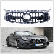 Car Front Bumper Grille Grill For Mercedes-benz C190 Amg Gt Amg 2018+ 2 Door
