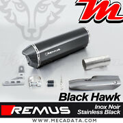 Silent Exhaust Remus Black Hawk Stainless Steel With Shield Heat Bmw R1200rs