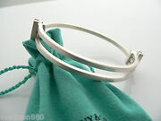 And Co Silver Gehry Axis Bangle Bracelet Cuff Rare Gift Pouch Love Art