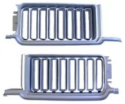 1970 Olds Cutlass 442 Grille Set Pair Silver 70 Oldsmobile H/o