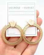 Old Stock Melrose And Market Drop Stud Earrings In Gold Matte Tone