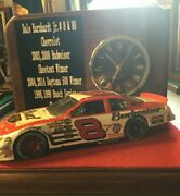 Dale Earnhardt Jr. With Born On Date 2004 Bud Car W/clock Monument For Man Cave