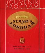 1932 Fordham Rams - St. Mary's Gaels Football Program. Vintage Ads And Photos