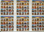 6 Pane Poster With Matching Post Legends Of The West Us Postage Stamps 1994