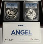 2016 Pcgs Pr70 Fs Isle Of Man Proof And Reverse Silver Angel 2-coin Set - 010/500