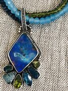Echo Of The Dreamer /mars And Valentine Opal Necklace