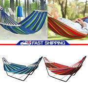 Metal Hammock Stand Frame Double Person Large Garden Camping Outdoor Patio Swing