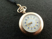 Vintage Ladies 31mm New England Watch Co Pocket Watch Necklace - Keeping Time