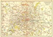 London. Telephone Exchanges Of London And Environs 1923 Old Vintage Map Chart