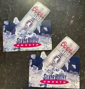 Coors Light Silver Bullet Smooth 2 Vintage 1992 18 Metal Advertising Tin Signs