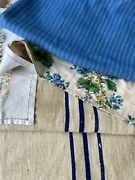 Antique Vintage French Fabrics Materials Crafting Project Bundle Valance Scrap