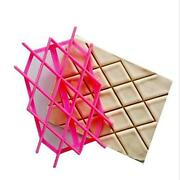 Rhombus Fondant Cookie Icing Cup Cake Embossing Mould Stamp Cutters Decor Fm
