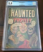 Haunted Thrills 11 Cgc Graded Nazi Death Camp Story Classic Golden Age 1953 1