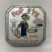 King Features Popeye Dime Bank, Vintage 1920's