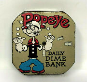 King Features Popeye Dime Bank Vintage 1920s