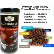 Freeze Dried Blood Worms - Betta Fish Goldfish Cichlid Guppy Discus Turtle Food