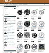 Alloy Wheels Website - Fully Stocked - One Years Hosting - Easy Home Business