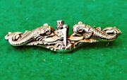 Wwii Usn Us Navy Officers Submarine Warfare Pin Amico 10k Gold